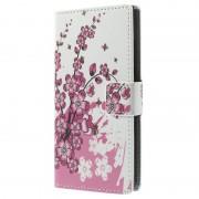 Capa Tipo Carteira Stylish para Nokia Lumia 730 Dual Sim - Flores Rosa
