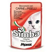 Hrana umeda pentru pisici Simba Cat Plic Carne/Mazare, 100 g