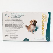 Revolution (Teal) for Dogs 20.1-40kg(40.1-85lbs), 3 Pack