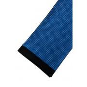 Modrá pánská šála s černým okrajem Avantgard 954-13093