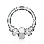 Helixpiercing ring met beads