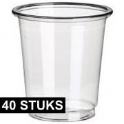 Merkloos 40x PLA transparante shotglazen 40 ml