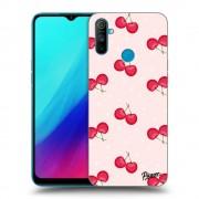 Átlátszó szilikon tok az alábbi mobiltelefonokra Realme C3 - Cherries