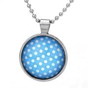 Silvego Modrý přívěsek s puntíky pro ženy - VSP017