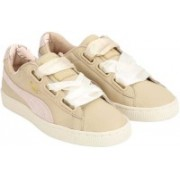 Puma Basket Heart Coach Wn s FM Sneakers For Women(Beige)