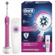 Periuta Electrica Oral B PRO 750 Pink + Travel Case
