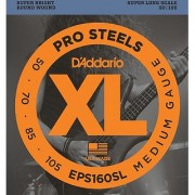 DAddario EPS160SL ProSteels Bass Guitar Strings Medium 50-105 Super Long Scale