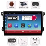 "Unitate Multimedia Auto 2DIN cu Navigatie GPS, Touchscreen HD 9"" Inch, Android, Wi-Fi, BT, USB, Volkswagen VW Touran 2003+"