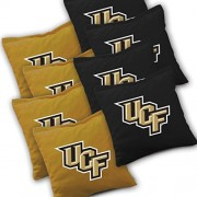 UCF Central Florida Knights Cornhole Bags SET of 8 Officially Licensed ACA REGULATION Baggo Bean Bags ~ Made in the USA