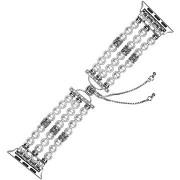 Eternico Apple Watch 42mm / 44mm Pearl Bracelet, fehér