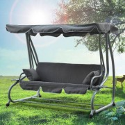 Outsunny Relax Hollywoodschaukel mit Liegefunktion grau