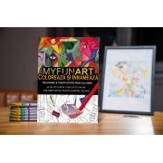 Carte de colorat pentru adulti: Coloreaza si Inrameaza