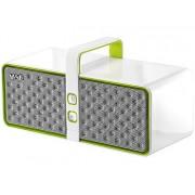 Aktiver Lautsprecher WAE BT03-W, mit Bluetooth, 24 W, weiss/grün | Lautsprecher