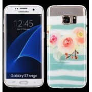 Funda Case para Samsung Galaxy S7 Edge de Plastico tipo TPU Flexible -Blossom