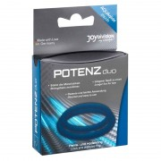 Joydivision Eropharm Set Of 2 Potenz Duo Cock Rings Blue 0504157