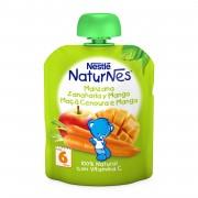 Nestle NaturNes piure mere, morcovi si mango, 6 luni+, 90 g