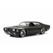 Jada 1969 Pontiac GTO Judge, Black - Toys 90217 1/24 Scale Diecast Model Toy Car