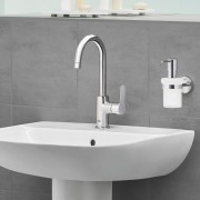 Baterie lavoar Grohe BauEdge marimea L,furtune flexibile, crom- 23760000