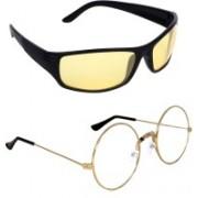 Criba Round, Sports Sunglasses(Clear, Yellow)