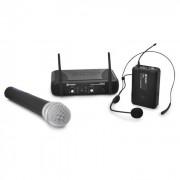 Set microfono wireless UHF, cuffie wireless Skytec STWM72