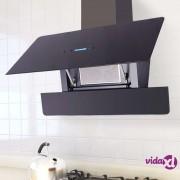vidaXL Kuhinjska napa sa zaslonom na dodir 900 mm crna