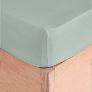 Montesinos Drap housse 100% Coton gris perle - 140x190 cm