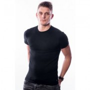 Ten Cate Men Stretch T-Shirt Round Neck Black Two Pack (3752)