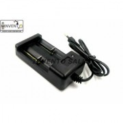 INVENTO 2pcs 2 cell Li-ion Cell Battery Universal AC Wall Charger For 18650 16340 14500 10440