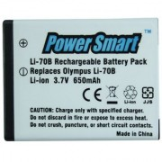 Power Smart 650mAh Replacement Battery for Olympus Li-70B - White