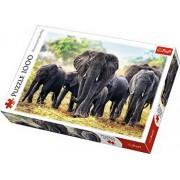 Puzzle Elefanti Africani, 1000 piese