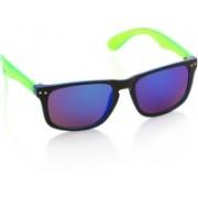 Joe Black Wayfarer Sunglasses(Violet, Blue)