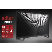 "Televizor TV 32"" LED Adler 32RTE1, 1366x768 (HD Ready), HDMI, USB, T2"