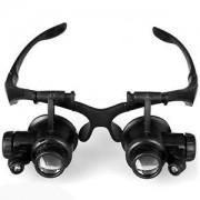 Szemüveg típusú nagyító LED világítással 4db nagyító 10X / 15X / 20X / 25X - NO.9892GJ