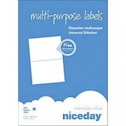 Niceday Etiqueta multifunción Niceday 980471 210 x 148 mm blanco 210 x 148 mm 100 hojas de 2 etiquetas