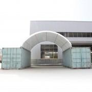 taltpartner.se Containertak 8x6m PVC 720 g/m² vit vattentät