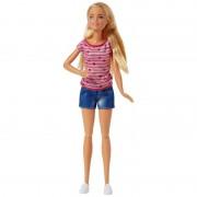 Papusa Barbie iubitoarea de catelusi, 29 cm, 4 catei inclusi