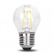 Bec 2 LEDuri Filament, G45, din Plastic, E27, 2W, 75 lm/W, Lumina Calda, Dimabil, de Exterior
