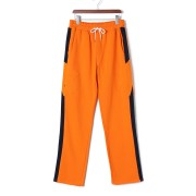 【69%OFF】Hands on Legs ハンドモチーフ サイドライン イージーパンツ オレンジ m ファッション > メンズウエア~~パンツ