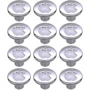 Doyours Chrome Apple Cabinet Knob White Metal - Set of 12