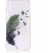 GadgetBay Veer Vogel hoesje iPhone XS Max Case TPU - Transparant