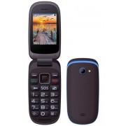 Maxcom MM818BB kártyafüggetlen, extra nagy gombokkal, vészhívóval fekete - kék
