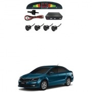 KunjZone Car Reverse Parking Sensor Black With LED Display Parking Sensor For Skoda Rapid