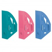 Suport vertical plastic pentru cataloage Herlitz Cool Color albastru