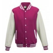 Varsity Jacket Hot Pink/White