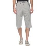 Vimal Gray Cotton Blended Capri For Men