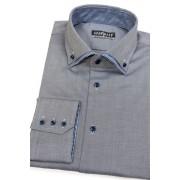 Šedá pánská košile bavlněná Avantgard 130-2215-42/182