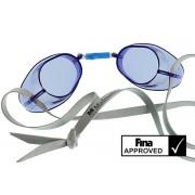 Svéd úszószemüveg sima kék áttetsző - blue, FINA jóváhagyott versenyszemüveg, Malmsten
