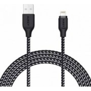 Cablu de date/incarcare Aukey CB-AL2 pentru Apple 2m Certificat Apple MFi Negru