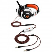 HEADPHONES, Sharkoon Rush ER2, Gaming Headset, Inline Controller, 40mm Speakers, 32Ohm, Microphone, White