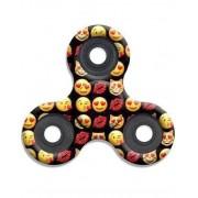 Cool Svart Emoji & kisses Fidget Spinner